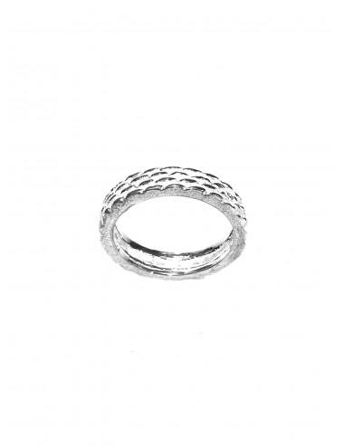 Punki Mesh Ring in Sterling Silver