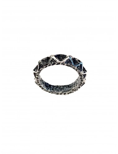 Punki Ring in Dark Sterling Silver