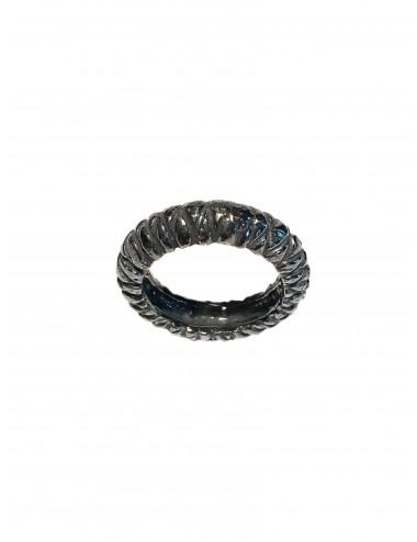 Punki Rhombus Ring in Dark Sterling Silver