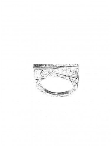 Punki Flat Ring in Sterling Silver