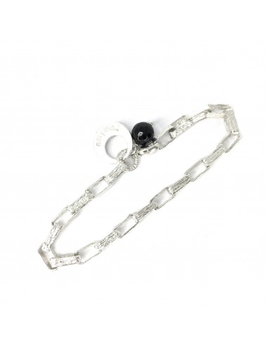 Punki Square Chain Bracelet in Sterling Silver