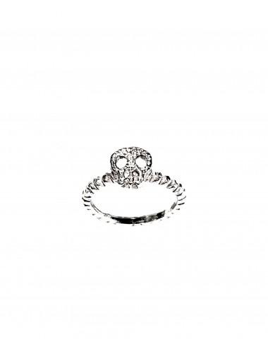 Punki Skull Ring in Sterling Silver