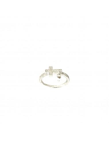 Punki Cross Ring in Sterling Silver