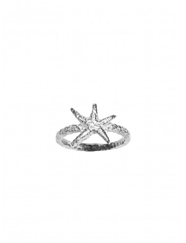 Punki Starfish Ring in Sterling Silver