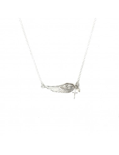 Punki Wing Necklace in Sterling Silver