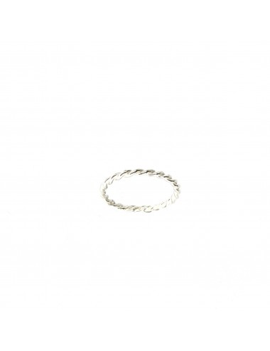 Punki Twisted Thread Ring in Sterling Silver