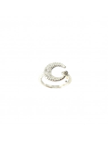 Punki Moon thin Ring in Sterling Silver