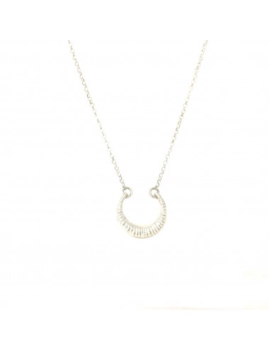 Punki Moon Up Necklace in Sterling Silver