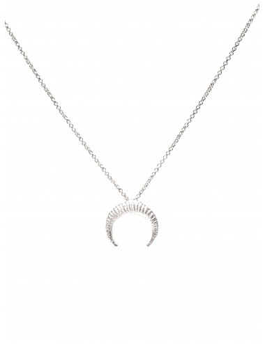 Punki Moon Down Necklace in Sterling Silver