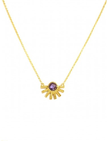 Punki Sunset Necklace in Sterling Silver Vermeil with Purple Circonita