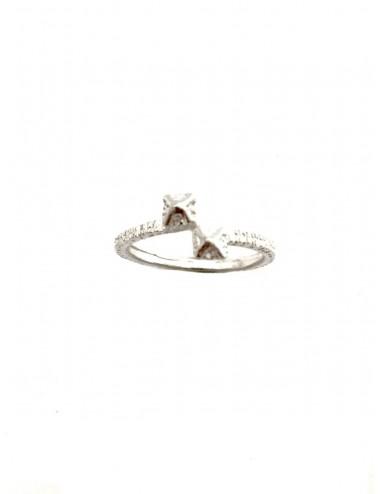 Punki Tacks Crossed Ring in Sterling Silver