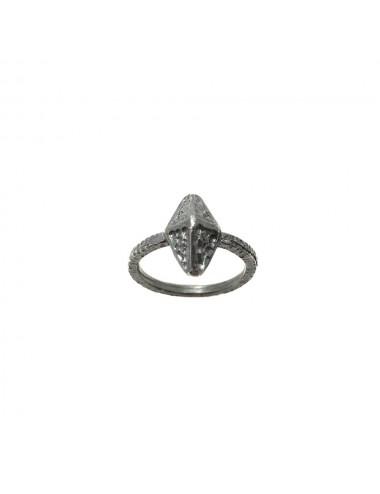 Punki Tacks Rhombus Ring in Sterling Silver