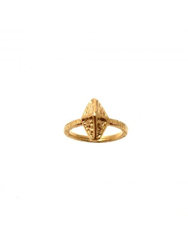 Punki Tacks Rhombus Ring in Sterling Silver Vermeil