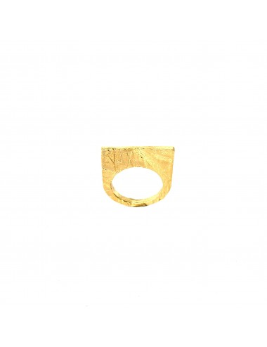 Punki Flat Ring in Sterling Silver Vermeil