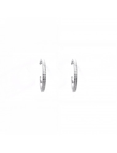 Satellite small Hoop Criollas Earrings in Sterling Silver