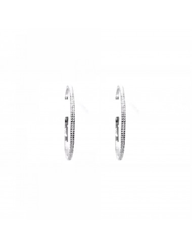 Satellite medium Hoop Criollas Earrings in Sterling Silver