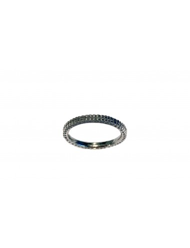 Satellite Hoop Ring in Dark Sterling Silver