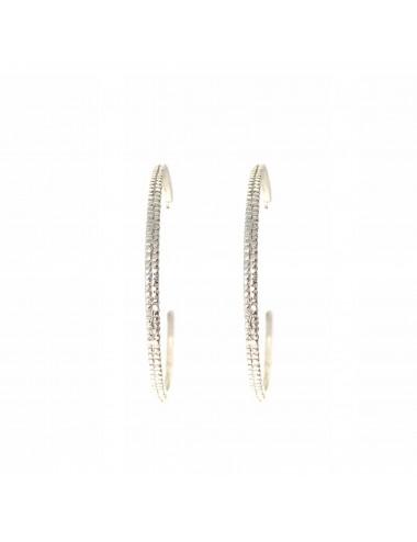 Satellite big Hoop Criollas Earrings in Sterling Silver