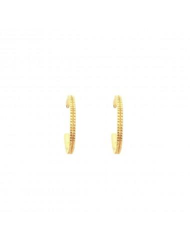 Satellite small Hoop Criollas Earrings in Sterling Silver Vermeil