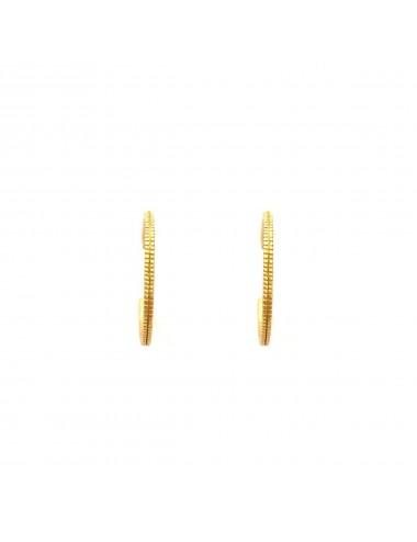 Satellite medium Hoop Criollas Earrings in Sterling Silver Vermeil