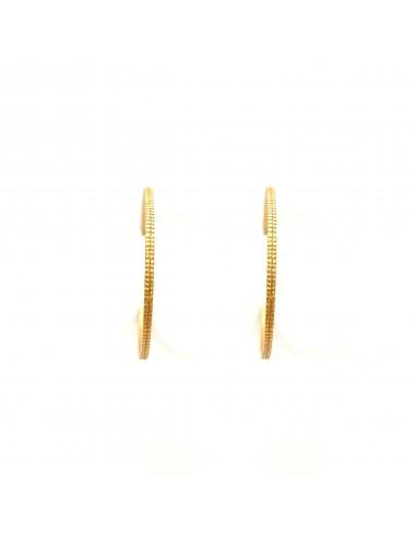 Satellite big Hoop Criollas Earrings in Sterling Silver Vermeil