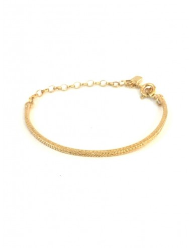 Satellite Hoop Bracelet in Sterling Silver Vermeil