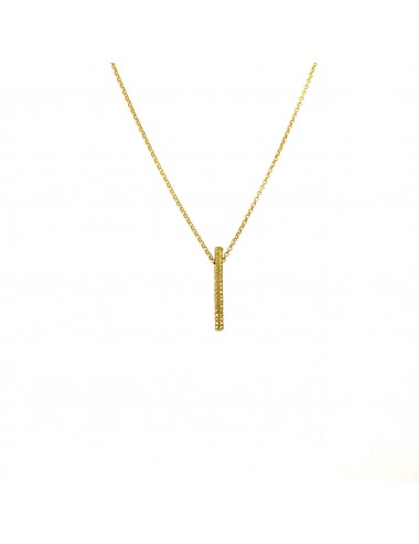 Satellite Bar Button Necklace in Sterling Silver Vermeil