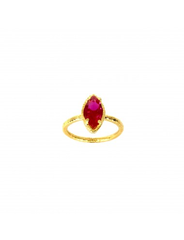 Architecture Ring in Sterling Silver Vermeil with Ruby Marquise